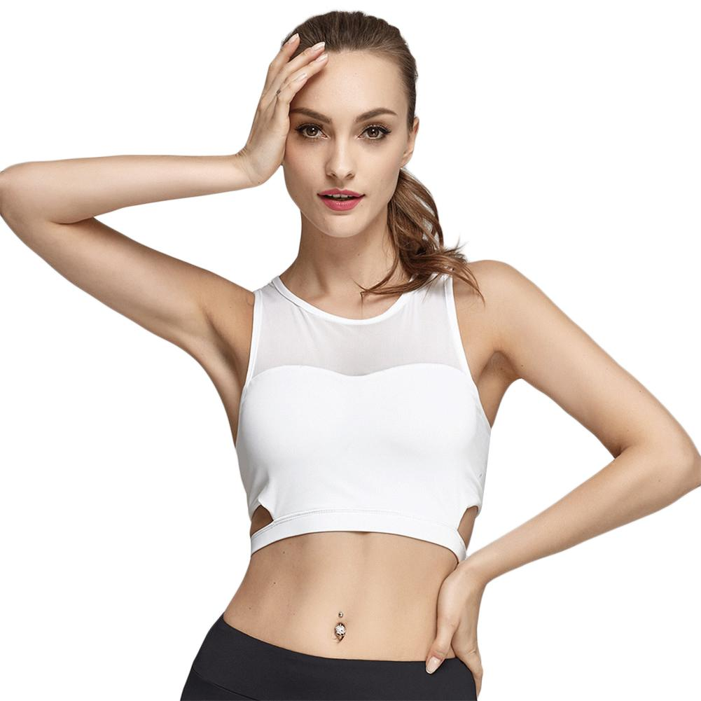 327a813562f28 2019 2017 New Sports Bra Running Top Sexy Mesh Yoga Bra Women Running  Fitness Sports Top Clothes Shockproof Sportswear From Dinaha
