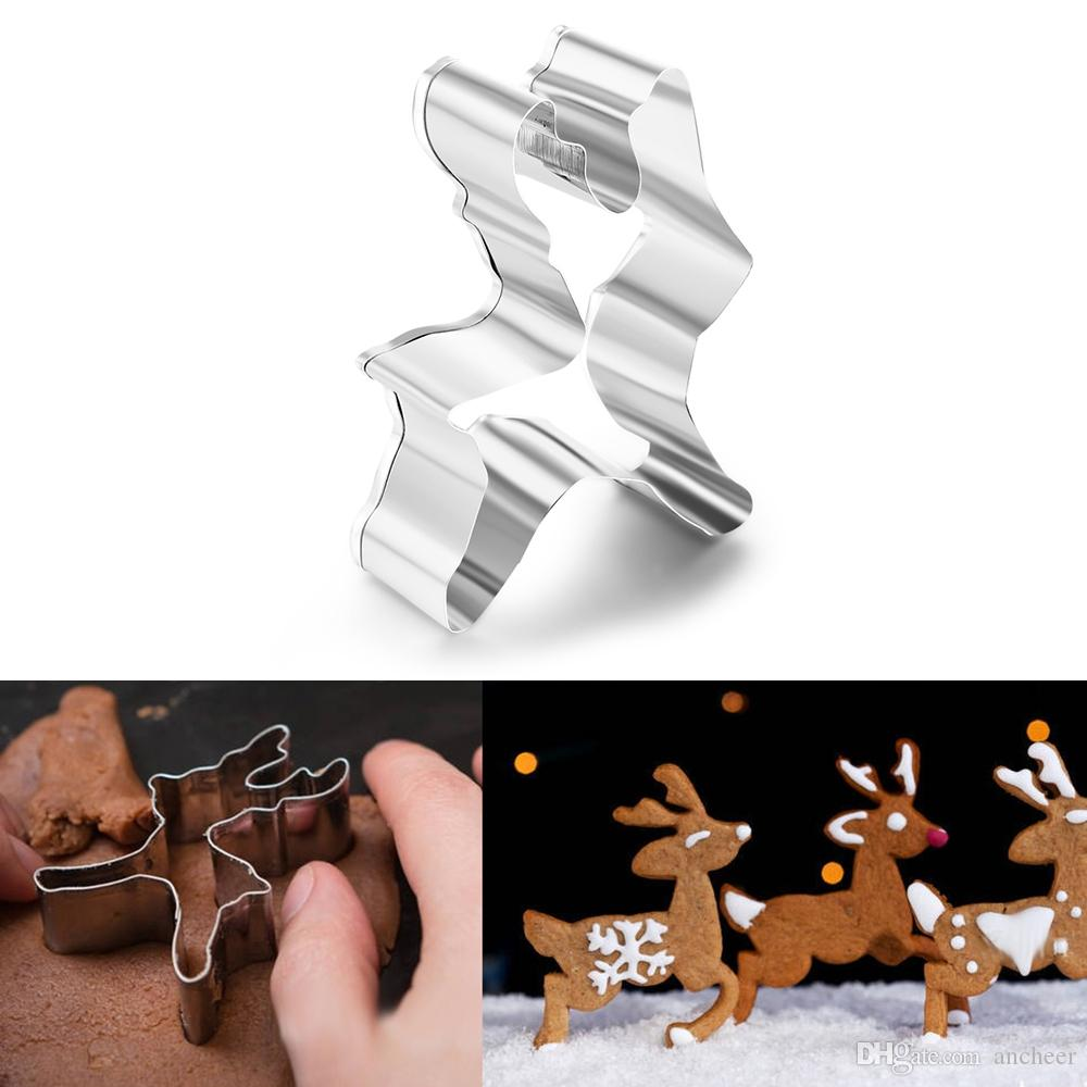 Christmas Reindeer Cookie Cutter Biscuit Pastry Fondant Cake Decorating Mold Easily Make Cookies Into Shapes Of Christmas Reindeer With It