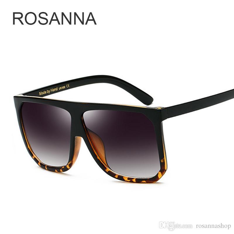 Compre Rosanna Moda Óculos De Sol Das Mulheres Design Da Marca Do Vintage  Quadrado De Luxo Óculos De Sol Grande Quadro Shades Eyewear Oculos Uv400  Senhora ... 0ce5ece628