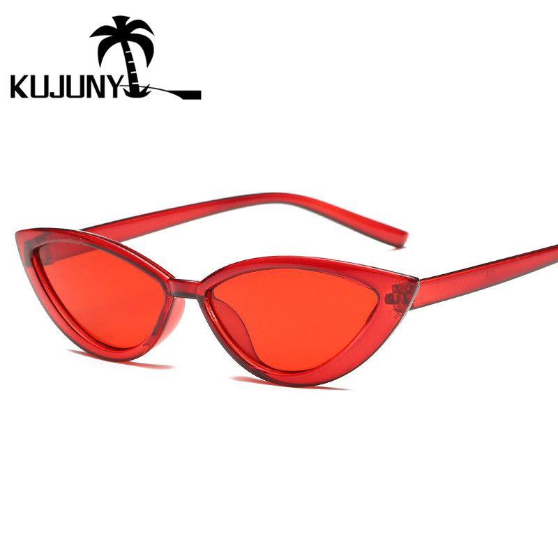 31c18db41ff KUJUNY Women Small Cat Eyes Sunglasses Luxury Brand Designer Sun Glasses  Transparent Frame Concave Eyewears Travel Accessories Glasses Frames  Glasses Online ...