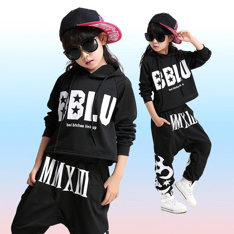 Compre Nuevo Estilo Moda Niños Jazz Dance Clothing Niños Niñas Street Dance Hip  Hop Disfraces Kids Performance Clothes Sets A  34.83 Del Saltblue  6b976c8a0dd