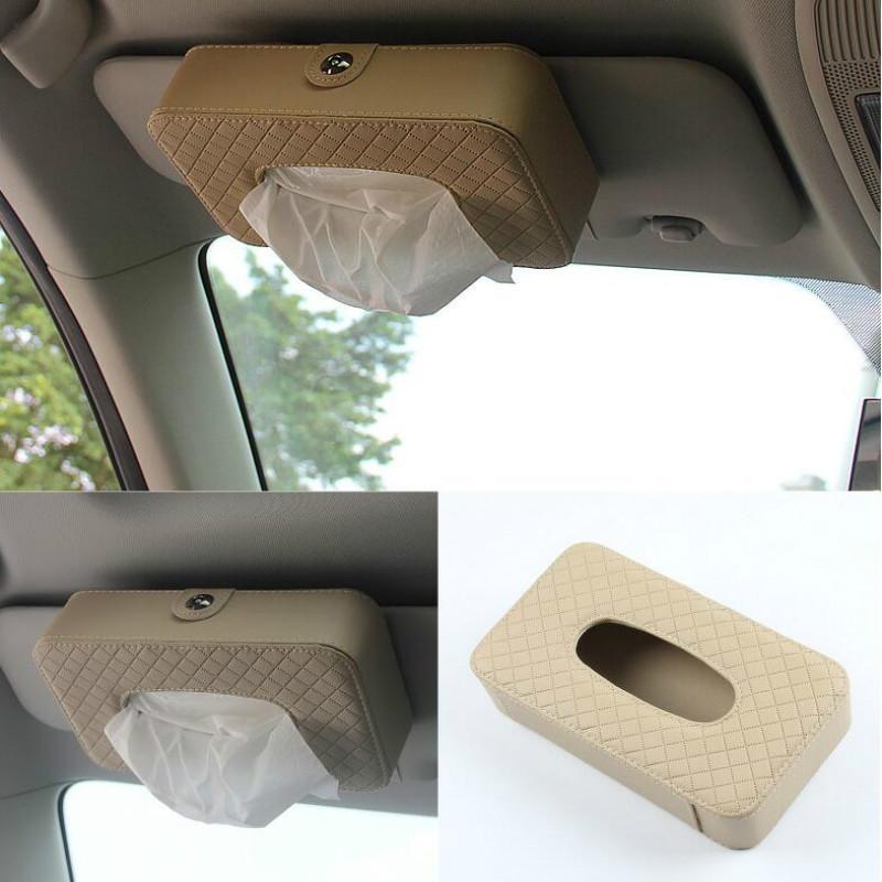Car Sun Visor Type Tissue Box For Solaris Accent I30 IX35 Tucson ... 716c4330dba
