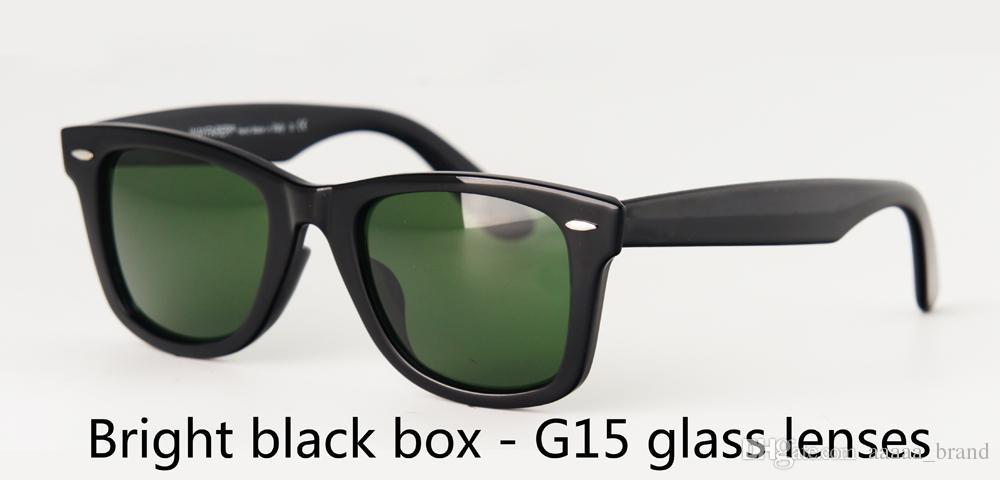 Marka Tasarımcı cam mercek Güneş kadınlar Erkekler 50 / 54mm Açık Spor Vintage Güneş kutusu ve davaları Retro Gözlük gözlük