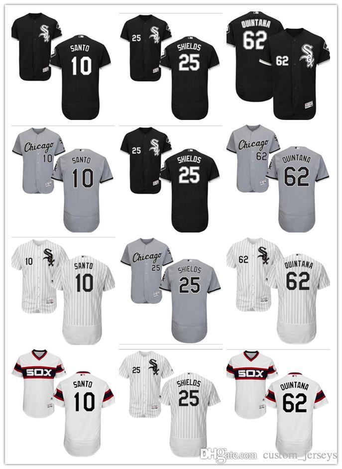 885cc96f0 2019 Custom Men Women Youth Chicago White Sox Jersey #10 Ron Santo 25 Adam  LaRoche 62 Jose Quintana Black White Kids Baseball Jerseys From  Custom_jerseys, ...