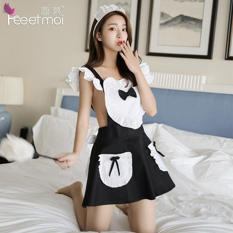 99d7361ca4 2019 Sexy Apron Maid Outfit Sexy Lingerie Role Playing Game Suit Cafe  Waitress Clothes Uniform Temptation + G String From Erotogenic01