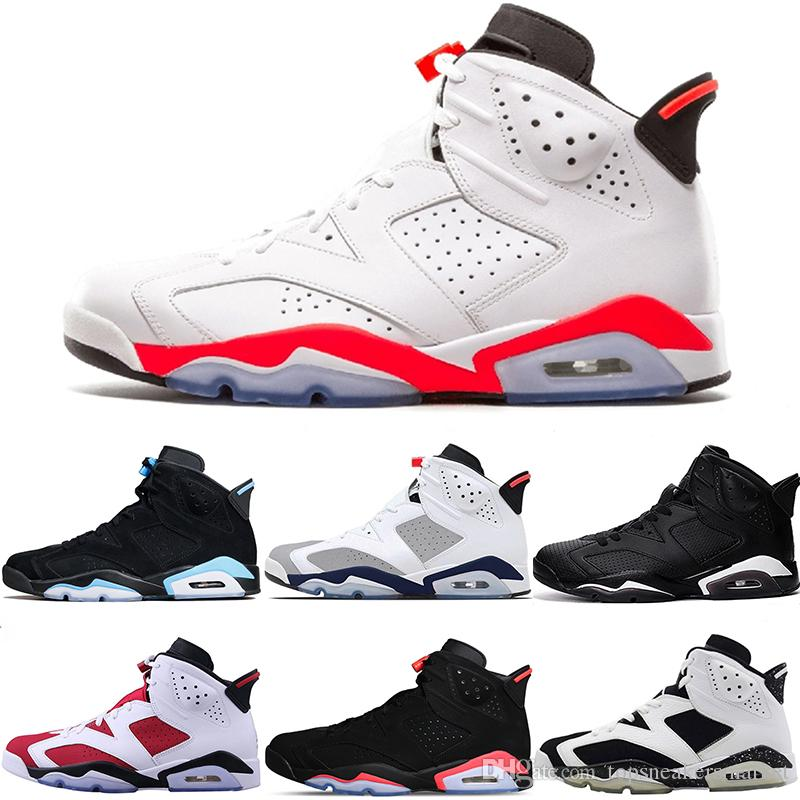 a10e73920f0 Men 6s Basketball Shoes Tinker Toro UNC Gatorade Oreo Black Cat White  Infrared Carmine Maroon Cheap Trainers Sports Sneakers Size 41 47 Sport  Shoes Mens ...