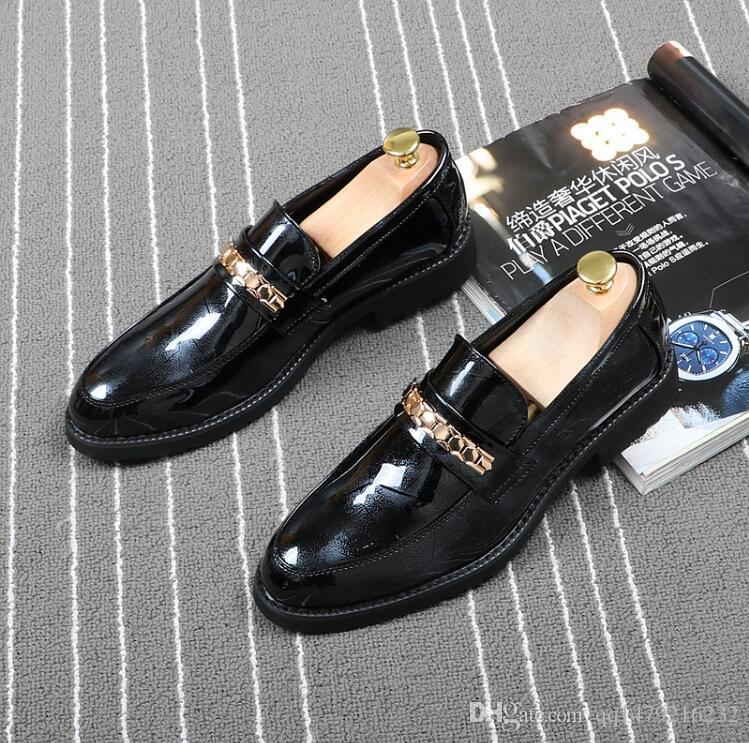 Erkek Elbise Ayakkabı Lüks Moccasin Deri Rahat Sürüş Oxfords Ayakkabı Erkek Loafer'lar Moccasins Erkekler için İtalyan Ayakkabı Daireler boyutu 38-43 a56