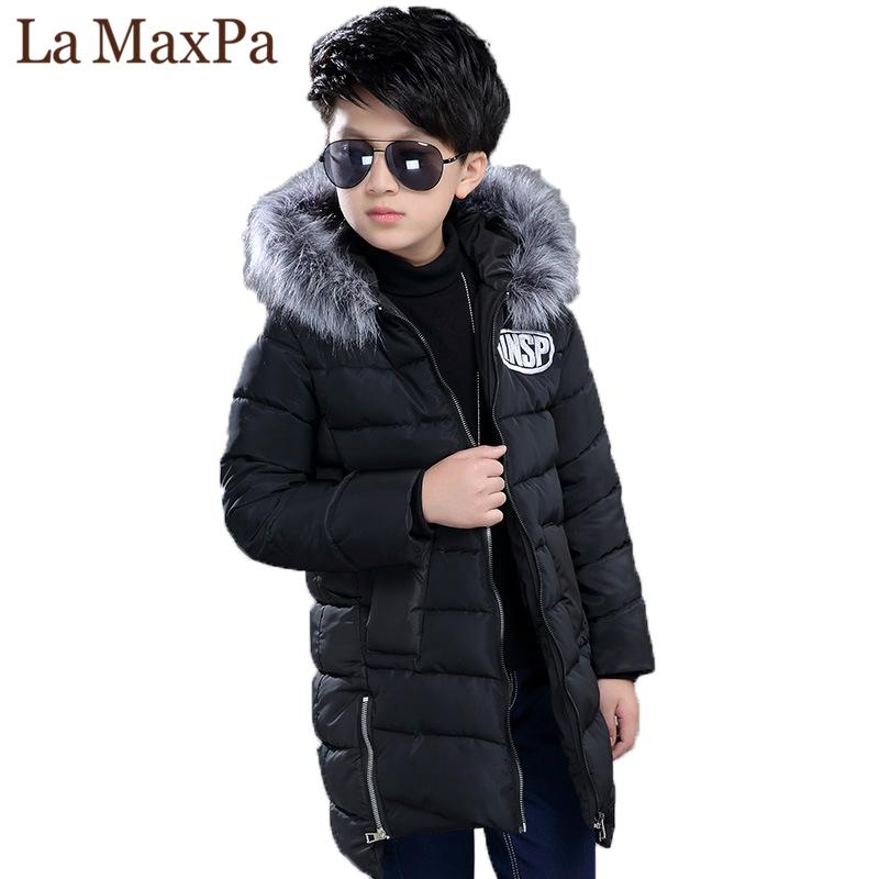 2f02de4dc9c Children Winter Jackets For Boys Fur Collar Hooded Coats Camouflage Thick Padded  Cotton Long Jackets Boys Parkas Warm Snowsuit Toddler Coats For Girls Boys  ...