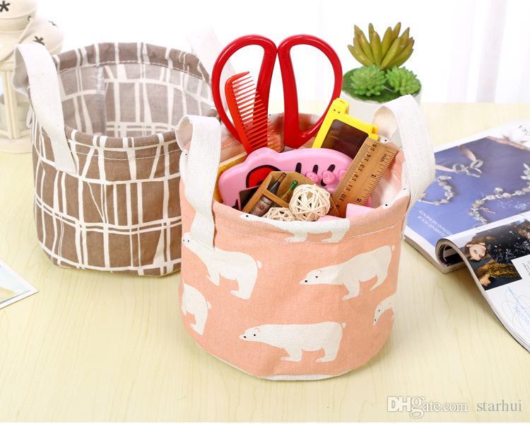 Cestini l'immagazzinaggio dell'orso del fenicottero secchio i giocattoli della stanza dei bambini Contenitori dell'abbigliamento Maniglia dell'organizzatore delle borse della lavanderia Scatola WX9-394