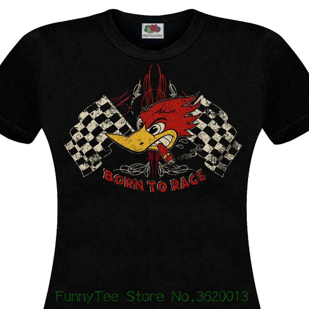 3852d3f68ff88 Compre Playera Para Mujer Playera Para Hombre Femme Born To Race Varilla  Para Automóvil Con Diseño De Músculo Muscle Car Cafe Racer Chopper V8 Retro  Fashion ...