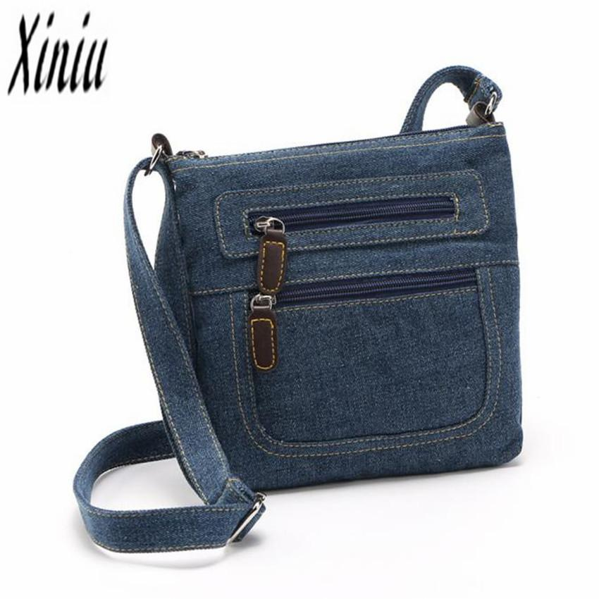 6c54023fe 2018Fashion Denim Shoulder Bags Women Handbag Satchels Ladies Crossbody  Sling Bag Classical Messenger Bag Cowboy Bags Ladies Bags Backpack Purse  From ...