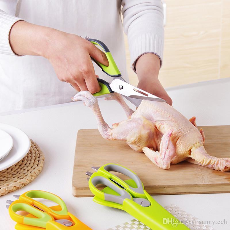 Forbici multifunzione magnetica staccabile 2 in 1 cucina può succhiare attacato attrezzo da cucina frigorifero coltelli LZ1556