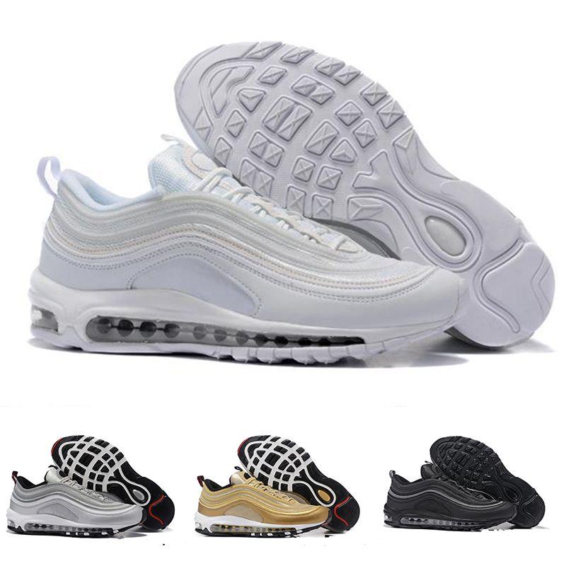best cheap e89a3 e577e Acquista 2018 Nuovo Stile Mens Casual Scarpe Classic Nike Air Max 97 Uomo  Donna Scarpa Black White Trainer Cushion Traspirante Uomo Walking Shoes  Taglia 36 ...