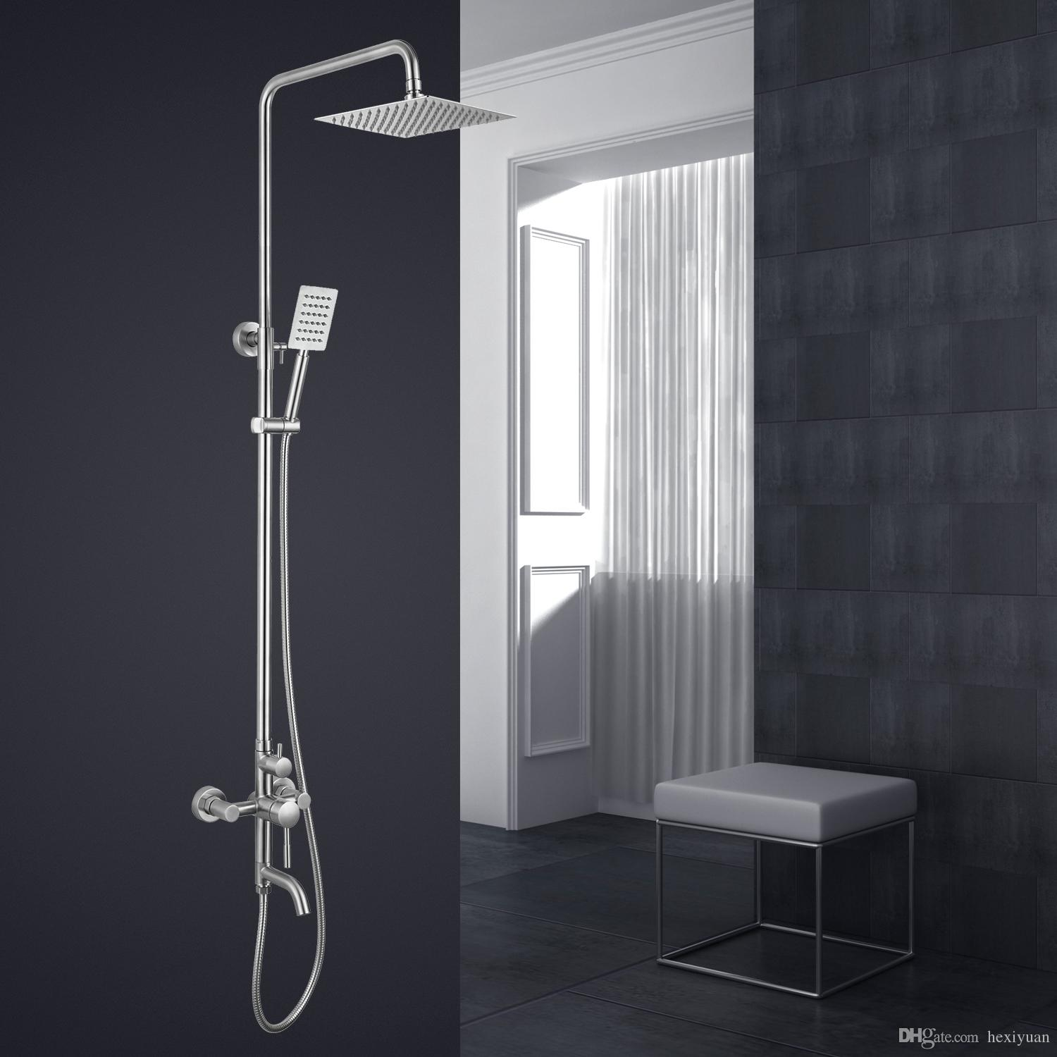 304 Stainless Steel Shower Hand Shower Top Hot And Cold Faucet ...