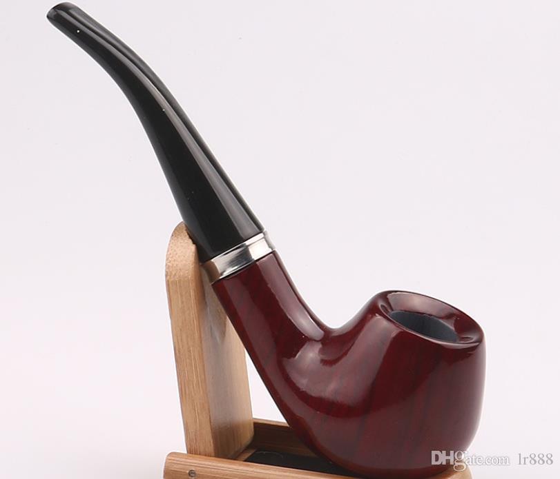 2018 new genuine rosewood handmade bucket of ebony pipe, acrylic bending handle smoking accessories.