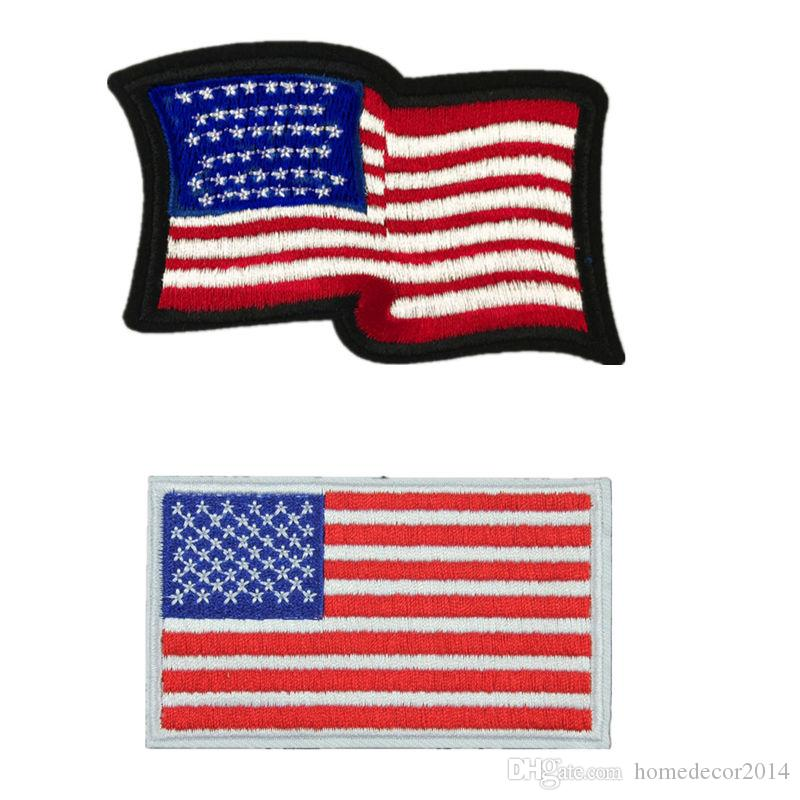 f228c0e3517b 2019 USA Flag American Flags Embroidered Patches Sewing Iron On Badge For  Bag Jeans Hat Appliques DIY Handwork Sticker Decoration Apparel Accesso  From ...