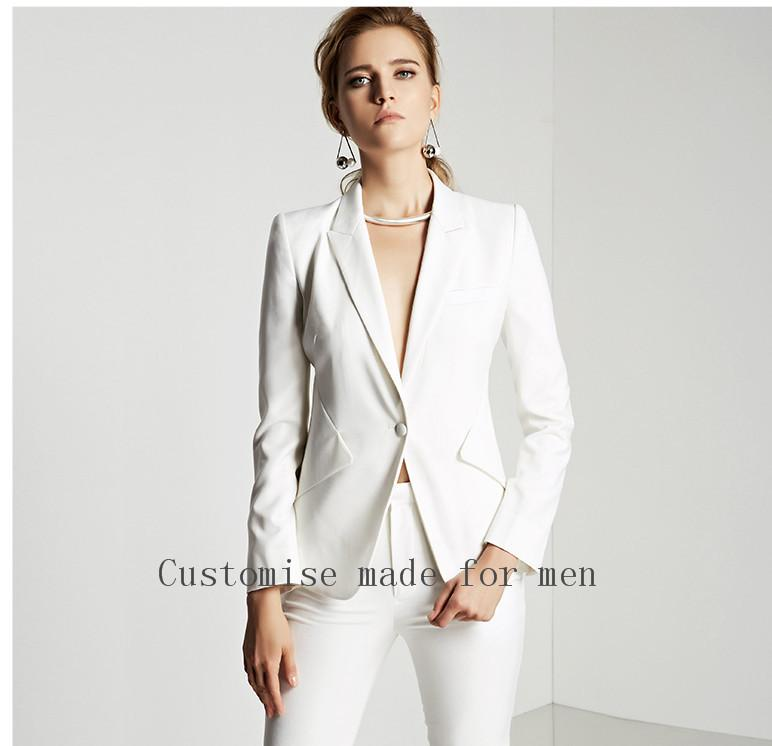 1aec5cc3f0e 2019 High Quality New 2017 Ivory Autumn Business Ladies Pants Suits Formal  Office Women Work Wear Trouser Fashion Elegant From Morph1ne