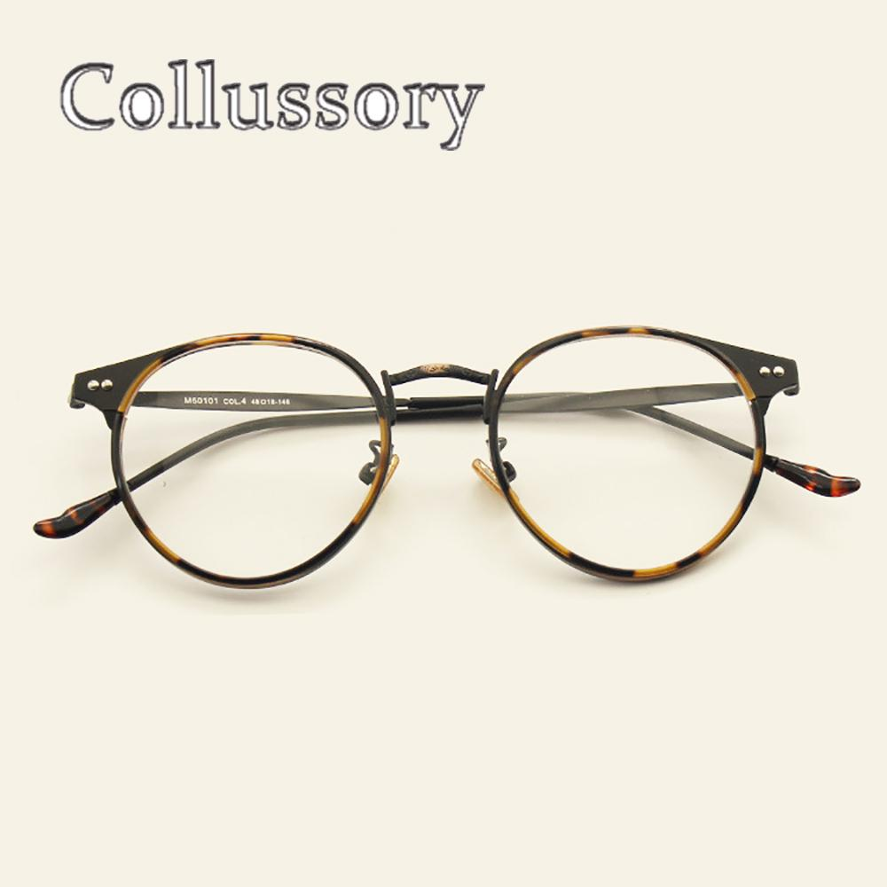 baa52335fd8 2019 Vintage Round Oversize Eyeglasses Frames For Women s Men s Retro  Optical Prescription Glasses Spectacle Brand Designer Eyewear From  Exyingtao