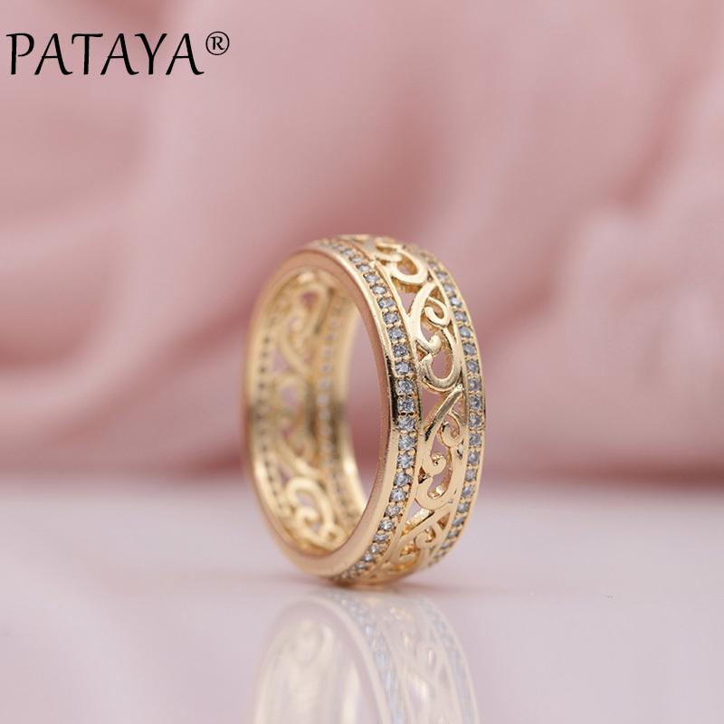 Grosshandel Pataya Neuheiten 585 Rose Gold Zweireihig Micro Wachs