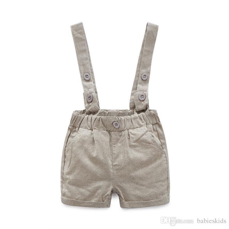 2020 New Verão Baby Boy Moda Vestuário T-shirt Gentleman macacão de algodão Crianças Define Miúdos roupa recém-nascido Roupa Conjuntos