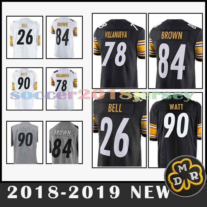 852cb792e ... usa 2018 pittsburgh steelers jersey 19 juju smith schuster 84 antonio  brown 50 ryan shazier mens