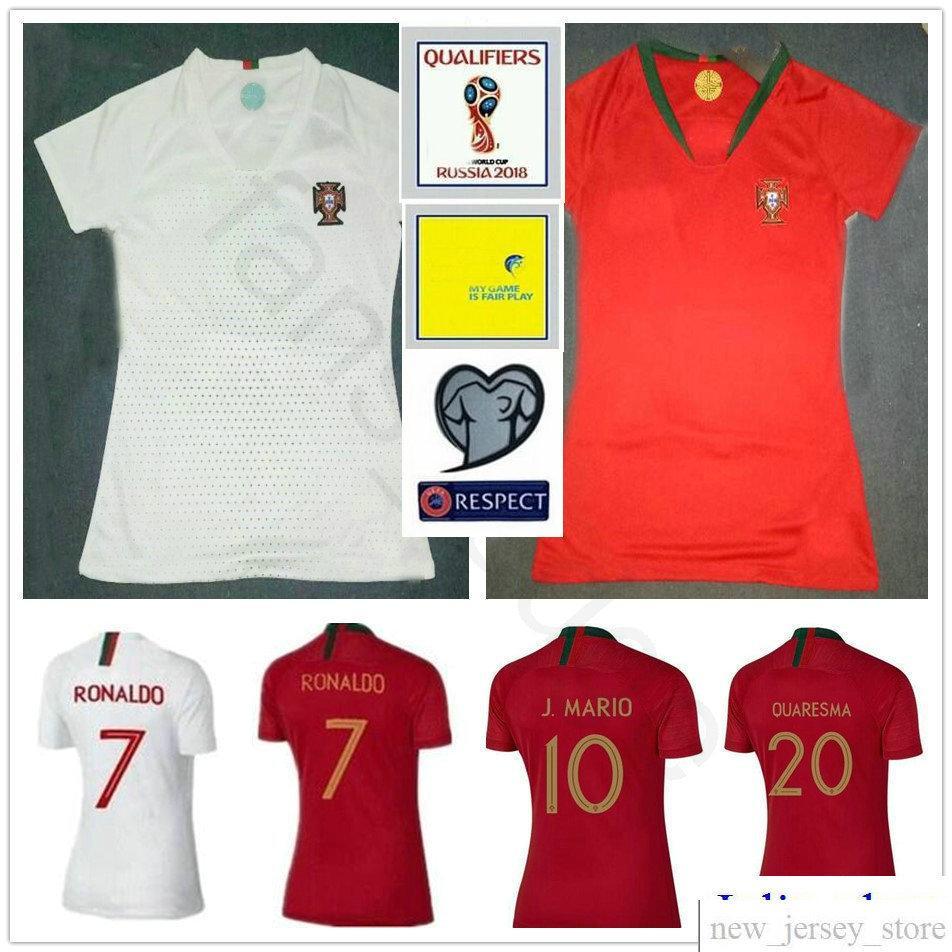 5f5564e5249 ... 2018 world cup women portugal soccer jersey 7 ronaldo 9 eder quaresma  j.moutinho j