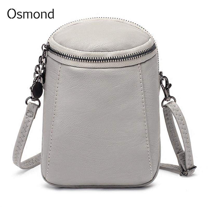 a388c3df5f9 Mini Crossbody Bags For Women PU Leather Messenger Bag Small Handbag Female Purse  Ladies Tote Round CellPhone Pockets Bag Handbags On Sale Leather Bags From  ...