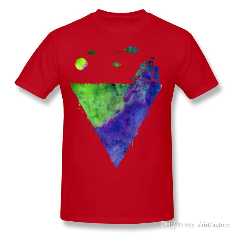 Popular Man Percent Cotton ocean is my home Tee-Shirts Man Round Collar Carbon Short Sleeve T Shirt 3XL Design Tee-Shirts