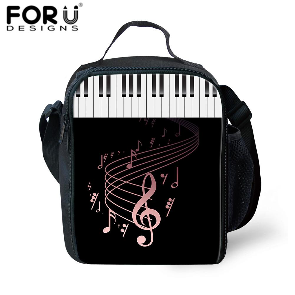 f76797b6521b FORUDESIGNS Lunch Bag For Kids DJ Music Notes Print Lunchbox Sac Thermal  School Insulated Lunch Bag For Children School Girl Boy Handbags On Sale  Shoulder ...
