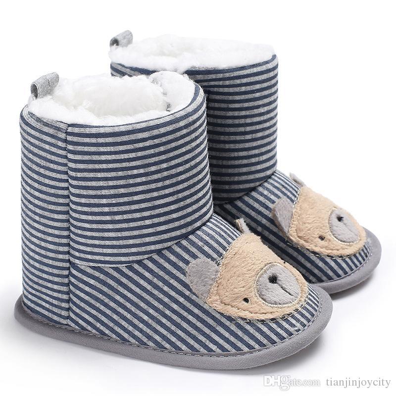 Winter Warm Baby Shoes Girls Boys Boots Children Cartoon Cute
