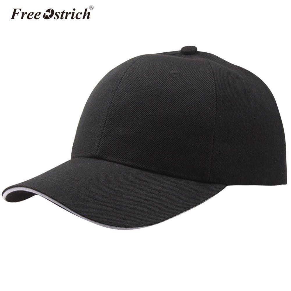 178a1b1547c0 Gorra de béisbol de avestruz libre Hip Hop Sólido Gorras Hombre sombreros  Gorras clásicas Gorras de malla Sombreros Para Hombres Mujeres Papá ...