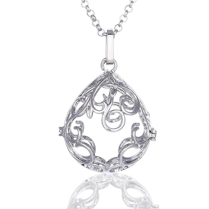 WaterDrop essentielle bijoux aromathérapie collier diffuseur d'huile mexicain Bola de grossesse Colliers Pendentif son Chime cloche à boisseau sphérique pour bébé