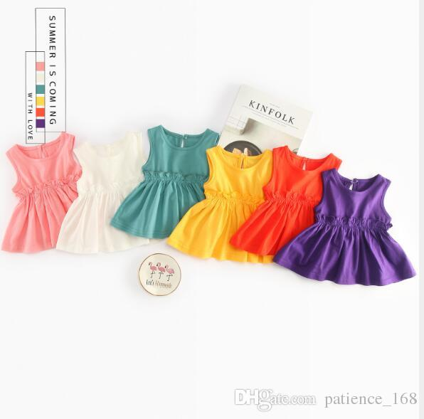975e59f3ffab 2019 New Dress 2018 INS Hot Styles New Summer Girl Kids Cute Simple ...