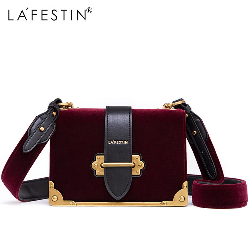 LAFESTIN Women Shoulder Bag Velvet Handbag Brands 2018 Design Luxury Famous Designer  Crossbody Bag Bolsa Feminina High Quality Y18102503 Black Bags ... 2e3ec034f22d