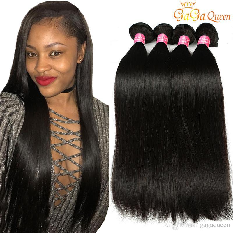 Gaga Queen Products Peruivan Straight Human Hair Weave Virgin