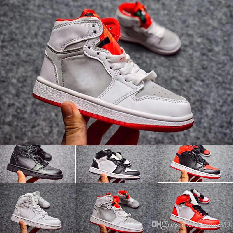 Kids Shoes Og 1 1s Basketball Shoes Children Boy Girl 1 Top 3 Bred Black  Red White Sneakers Kids Birthday Gift Cheap Shoes For Women Leather Shoes  From ... 465bf9dfbf
