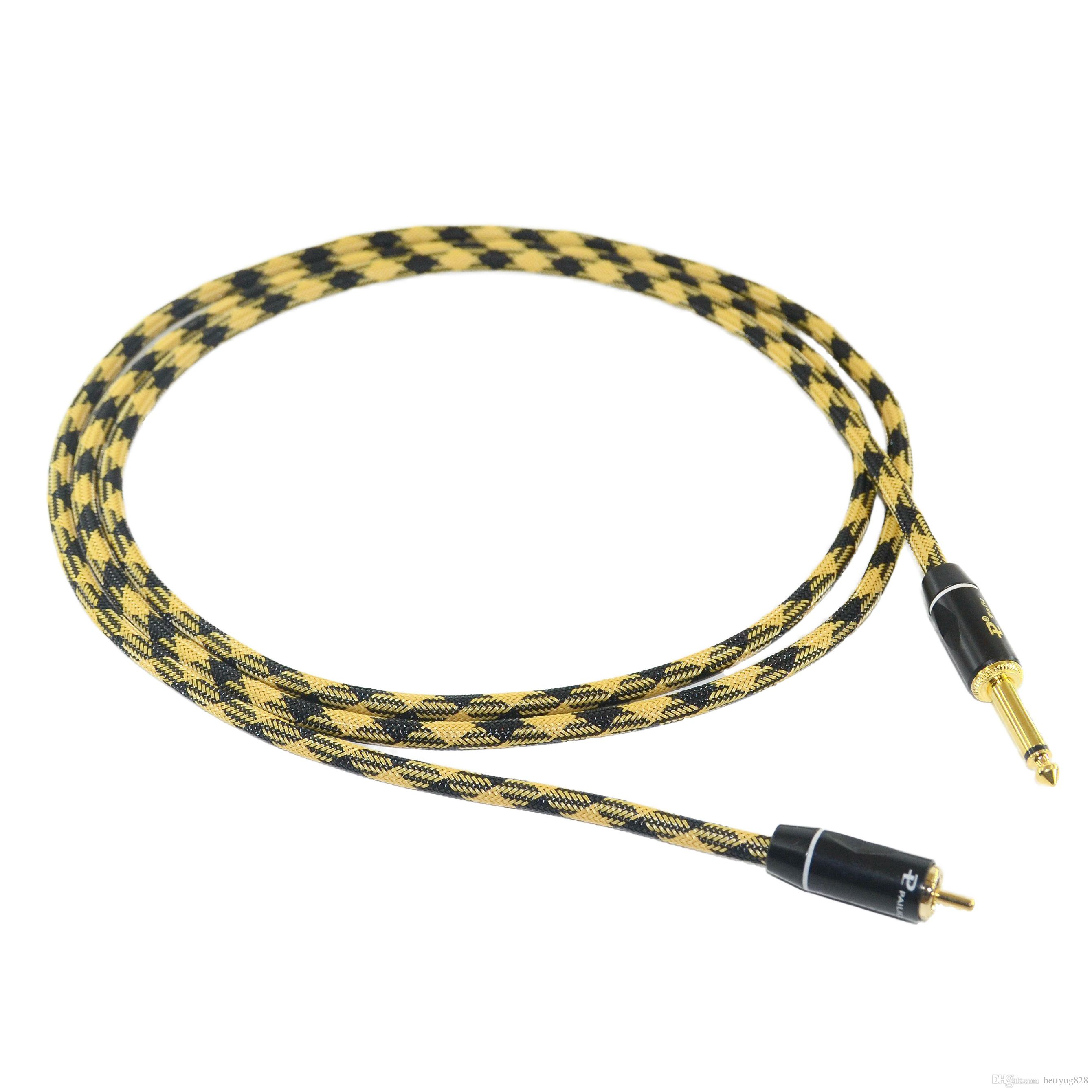 1PC HEAVY DUTY 15AWG COPPER WIRE RCA CLIPCORD 2METER CCSNAKERCA-01B FOR  TATTOO POWER SUPPLY