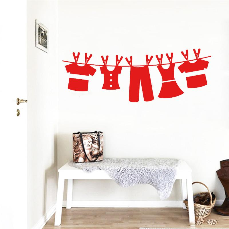 wall decal art clothesline laundry room wall sticker decals interior
