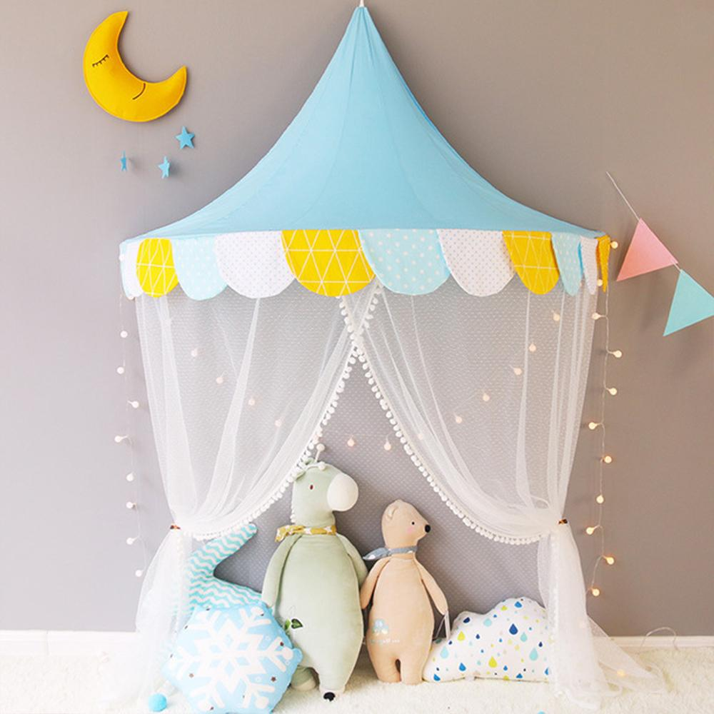 reputable site b5ff1 6082d Portable Children's Tent Toy Princess Girl's Round Dome Mosquito Play House  Kids Small House Playtent Christmas Girls Room Decor