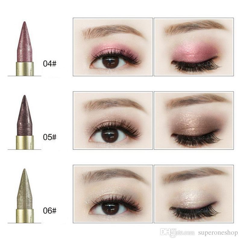 2018 New Brand Makeup HengFang Waterproof Liquid Eyeliner Glitter Eyeshadow Highlighter Double-headed dual-use eyeliner Eye Liner