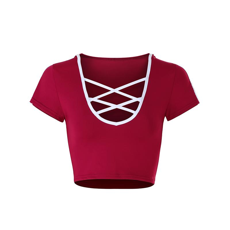 259777578 Sexy Low Cut Crop Tops Womens Hooded Pullover Shirts Fashion Casual Short  Sleeved V Neck Hoodie Wear WS9086U Best Deal On T Shirts That T Shirt From  ...