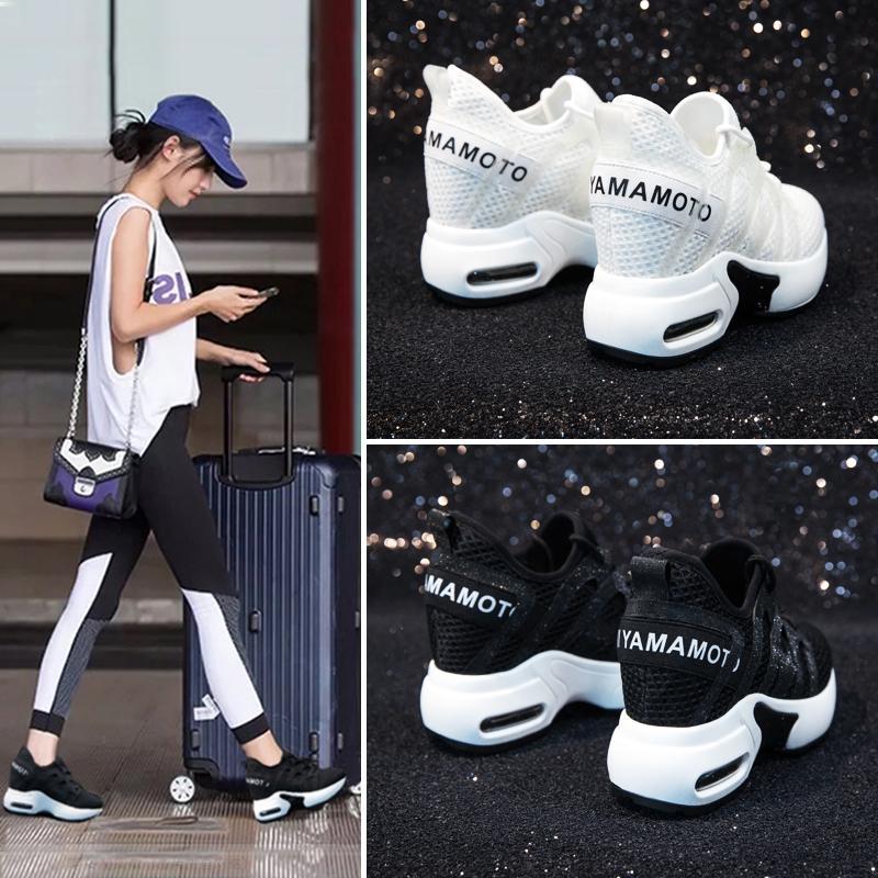 Acquista 2019 Casual Dumoo 2018 Tacco Alto 8 Cm Lady Casual Sneakers Bianche  Scarpe Da Donna Piattaforma Il Tempo Libero Cunei Crescente Altezza Scarpe  ... b896c656481