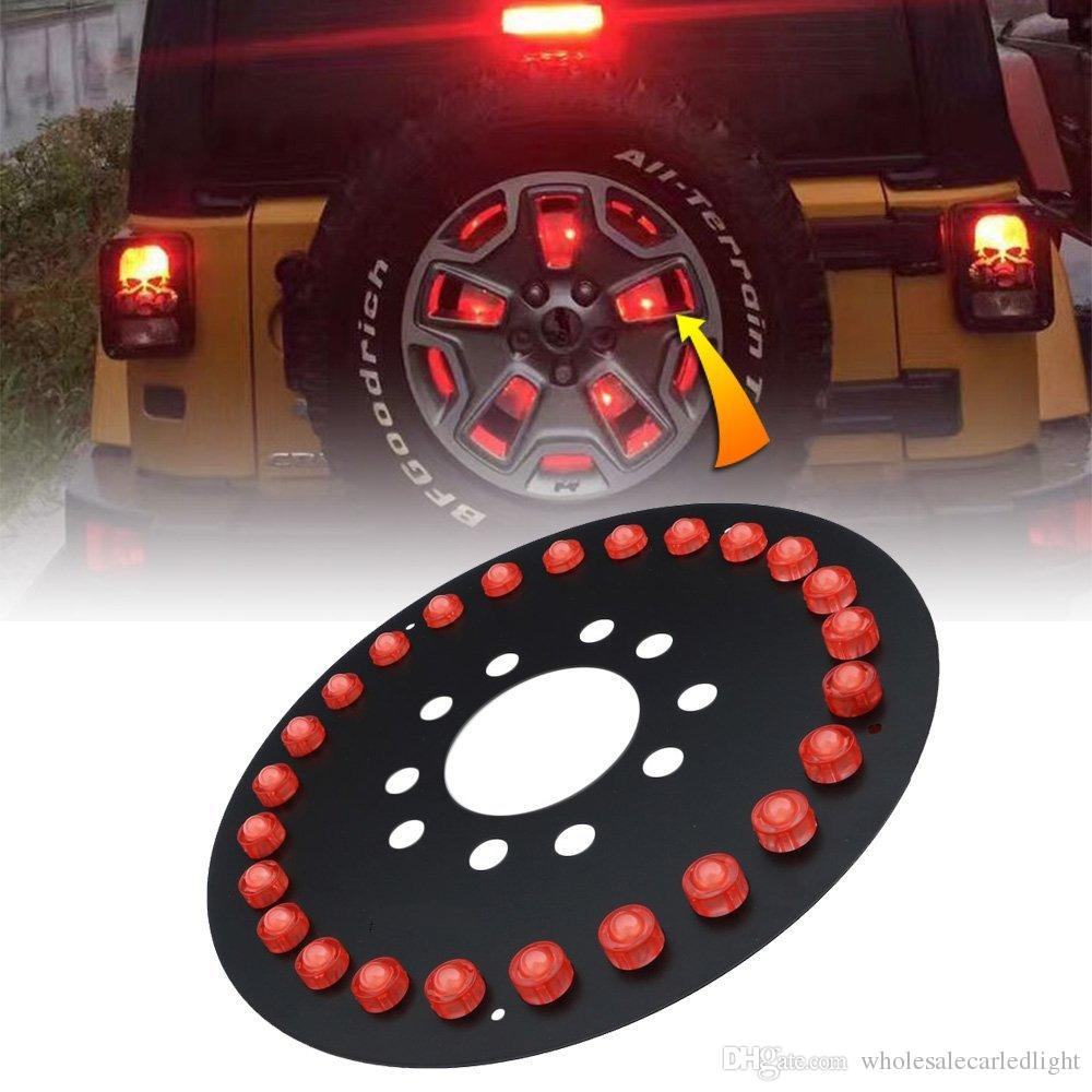 2019 Spare Tire Wheel Cover Taillight Led Brake Light Red