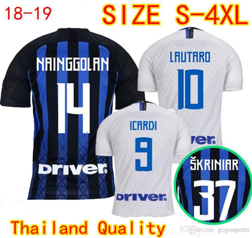 553a395c5a96 Thai Quality Inter Home Away Soccer Jerseys 2018 2019 PERISIC ICARDI ...