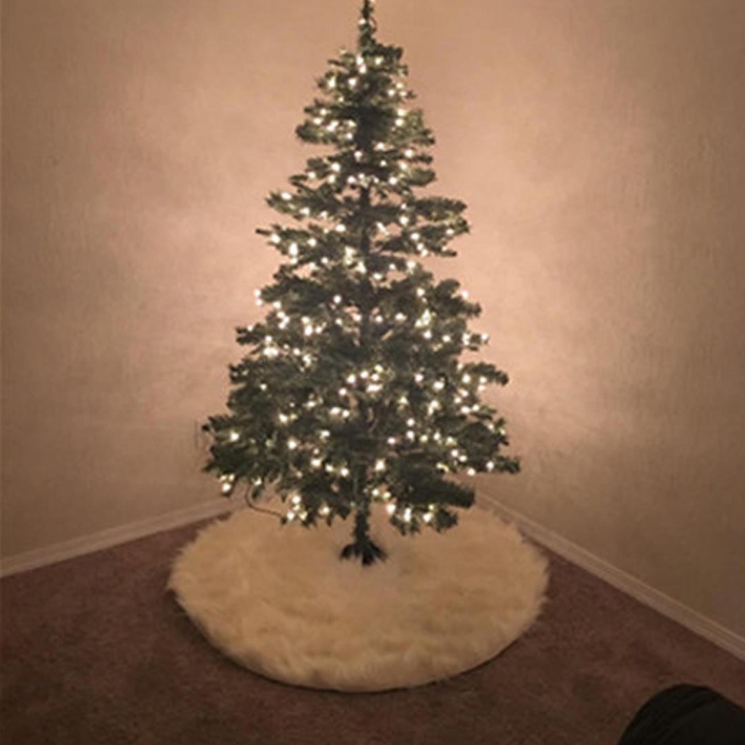 great cheap white plush christmas tree skirt for christmas tree decoration new year home party supplies german christmas ornaments glass christmas - Glass Christmas Tree Decorations