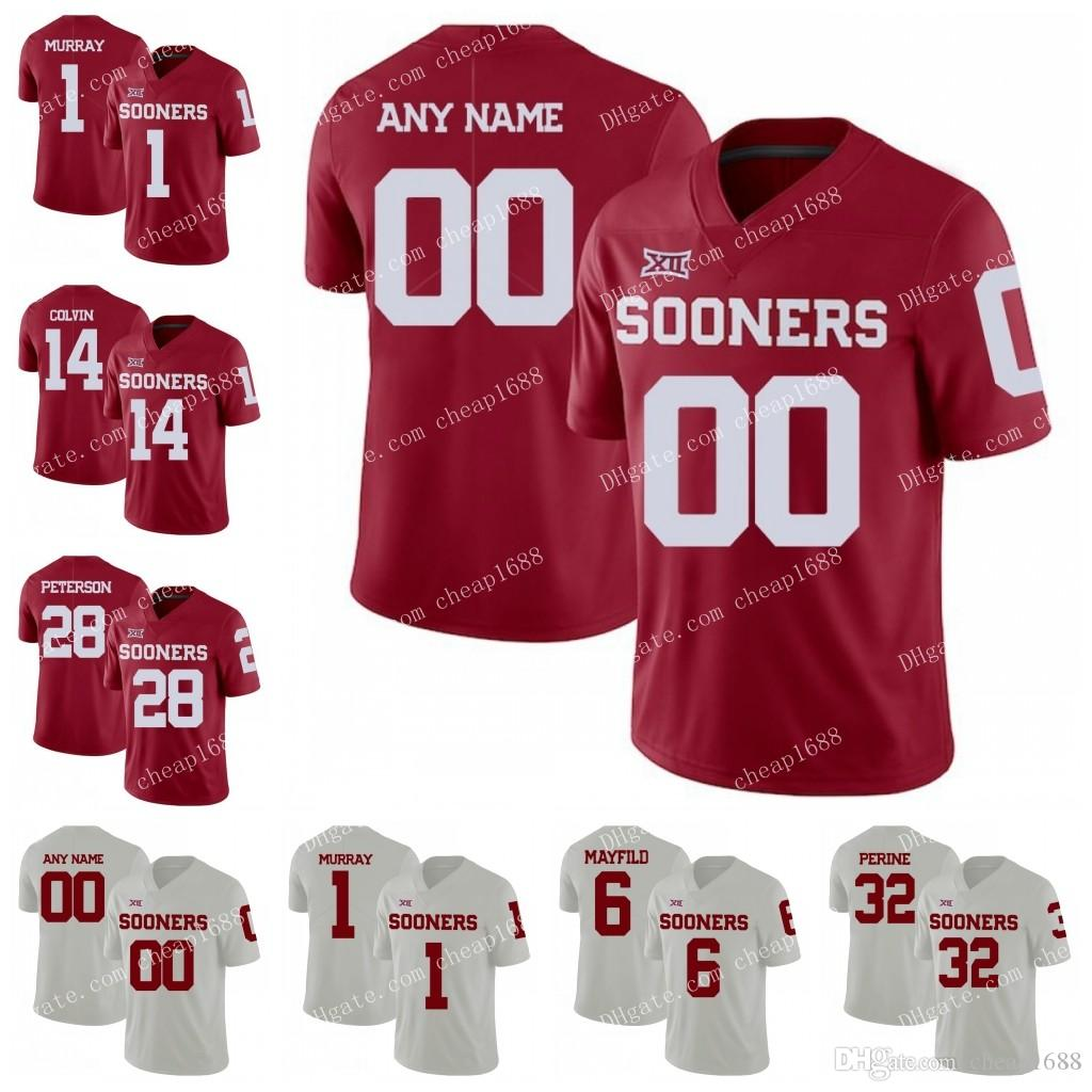 Custom Oklahoma Sooners  1 Murray 6 Mayfield 5 Hollywood 2018 New Red White  Stitched Any Name Number NCAA College Football Jerseys UK 2019 From  Cheap1688 75d01e6d9