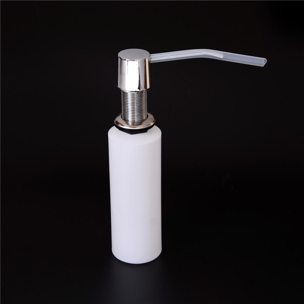 Plastic Metal Bottle Kitchen White 300ml Liquid Soap Sink Dispenser Liquid Soap Dispensers Bathroom Hardware