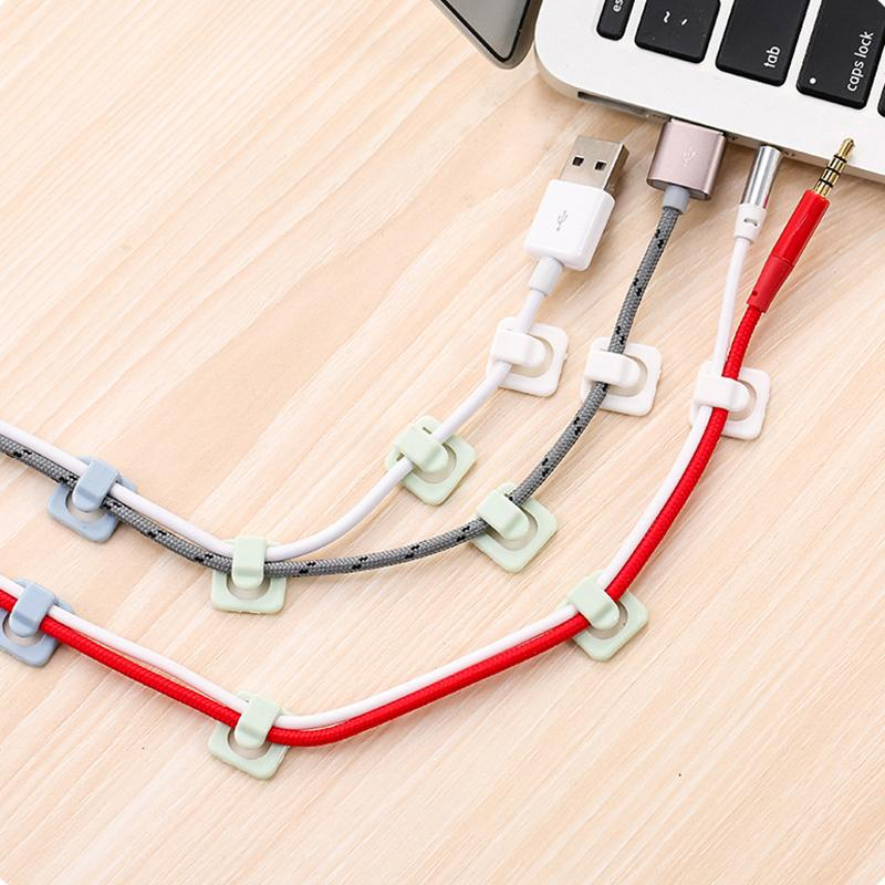 2018 New Computer Cable Clips Diy Wire Fixer Line Organizers Cord ...