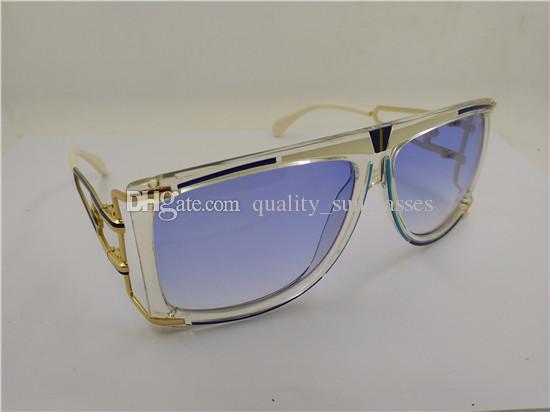 Compre 2018 Moda Legenda Óculos De Sol Legal   Preto Quadro Azul   Marrom    Cinza Lente Cor Nova Com Caixa Original De Quality sunglasses, ... bfcd3eee65