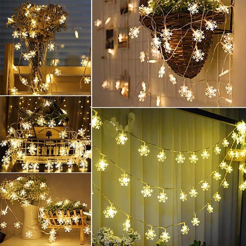 102040 Led Lights Christmas Tree Decorations For Home Snow String